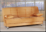 Vegas Rainbow Light Orange Convertible Sofa Bed - Sunset Furniture-Istikbal (SKU: IS-Vegas-S-ORN)