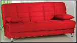 Vegas Rainbow Red Convertible Sofa Bed - Sunset Furniture-Istikbal (SKU: IS-Vegas-S-RED)