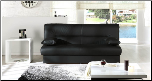 Regata Sofa Bed in Escudo Black PU - Sunset Furniture-Istikbal (SKU: IS-N0135-Regata-BL)