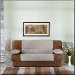 Regata Sofa Bed in Naturale Beige and Brown - Sunset Furniture-Istikbal (SKU: IS-N0135-Regata-BEI-BR)