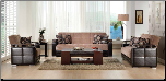 Ekol Living Room Set - Yuky Brown - Istikbal - Sunset