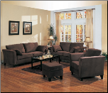 Park Place Velvet Living Room Set by Coaster - 500231CHO (SKU: CO 500231CHO -LR-SET)