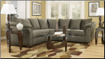 Signature Design by Ashley Darcy Contemporary Sectional Sofa with Sweeping Pillow Arms at Furniture Rack Inc. (SKU: AB-75003-SECTIONAL)