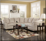 Signature Design by Ashley Darcy Contemporary Sectional Sofa with Sweeping Pillow Arms at Furniture Rack Inc. (SKU: AB-75000-SECTIONAL)