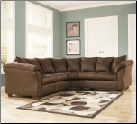 Signature Design by Ashley Darcy Contemporary Sectional Sofa with Sweeping Pillow Arms at Furniture Rack Inc. (SKU: AB-75004-SECTIONAL)