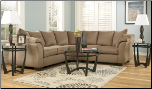 Signature Design by Ashley Darcy Contemporary Sectional Sofa with Sweeping Pillow Arms at Furniture Rack Inc. (SKU: AB-75002-SECTIONAL)