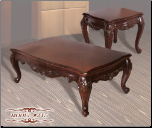 Genuine Marble Top  Cocktail Table Design with Cherry finish