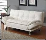 PATRICK SOFA BED (WHITE) 300291 - COASTER FURNITURE (SKU: CO - 300291)