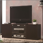 TV Console with Push-to-Open Glass Doors - Coaster (SKU: CO-700886)