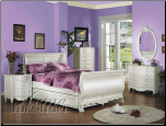 Pearl Twin Sleigh Bed Collection (SKU: AC-1010TS)