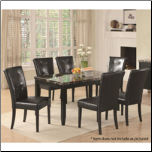 Coaster Furniture 102791 Anisa Dining Table with Black Faux Stone Top