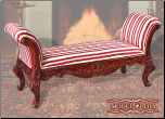 Cherry Finish Classy Style Elegant Bench by Empire Furniture Design (SKU: EM-110A)