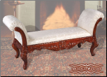 Cherry Finish Classy Style Elegant Bench by Empire Furniture Design (SKU: EM-110B)
