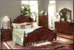 Legacy - Traditionally Styled Bedroom Set with Rich Cherry Finish (SKU: EM- Legacy-KSET)
