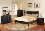 Parkside  - Transitional 6 PCS CompleteBedroom Set with Platform Bed in Rich Espresso Finish (SKU: EM- Parkside  -QSET)