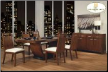 Zebrano Collection - Dining Room Set (SKU: HE-1369-84)