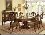 Prenzo Collection - Round/Oval Dining Table  Set (SKU: HE-1390-76)