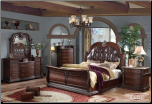 Palazzo - Handsome Bedroom Set with Sleigh Bed by Empire Collection (SKU: EM-Palazzo-KSET)
