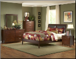 Rivera Bedroom Set w/ Upholstered Bed (SKU: HE-  1440PU-QBS)