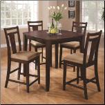 5 Piece Espresso Pub Table Set