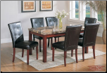Faux-Marble Table - rectangular Dining Set