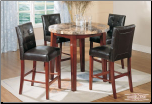 Faux-Marble Table - Counterheight Table  Dining Set (SKU: EM-723)