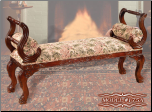 Cherry Finish Classy Style Elegant Bench by Empire Furniture Design