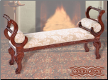 Cherry Finish Classy Style Elegant Bench by Empire Furniture Design (SKU: EM-175B-641529875)
