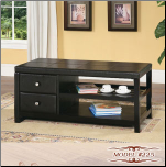 Two-Drawer Cielo Cocktail Table with One Shelf (SKU: EM-225)