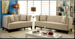 2-Pcs Beige Fabric Sofa Set / CM6761 (SKU: CM-6761BE)