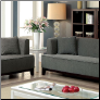 2-Pcs Beige Fabric Sofa Set / CM6761