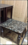 FLOOR SAMPLE END TABLE WITH MARBLE TOP
