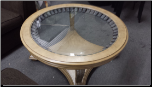 FLOOR SAMPLE ROUND TABLE WITH GLASS (SKU: FL-ROUND TABLE)
