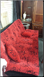 FLOOR SAMPLE  SOFA BED RED COLOR