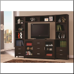 Cappuccino Entertainment Wall Unit