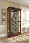Estate Oak  - Curio By Pulaski Furniture (SKU: PLS-20639)