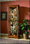 Golden Oak - Curio By Pulaski Furniture (SKU: PLS-20719)