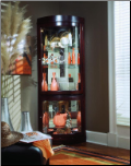 Brown  wood  - Curio By Pulaski Furniture