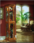 English oak II - Curio By Pulaski Furniture