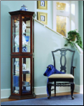 cherry wood  - Curio By Pulaski Furniture