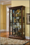 Chocolate Cherry II - Curio By Pulaski  furniture (SKU: PLS-21015)