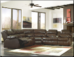 DuraBlend-Cafe Reclining Sectional Living Room Set Signature Design by Ashley Furniture