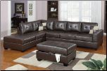 Bobkona 2 Piece Black Sectional Sofa By Poundex