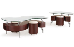 Cocktail Table Set in Curved Shape by Global USA (SKU: GL-288M-CTSET)