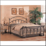 Whittier Queen Iron Bed with Rope Detail (CO-300021Q) (SKU: CO-300021)