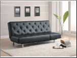Coaster Living Room Sofa Bed, Black PU 300304 (SKU: CO - 300304)