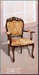 Imported Fabric Cherry Finish 	 Accent Chair