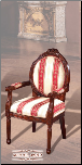 Imported Fabric Cherry Finish 	 Accent Chair (SKU: EM-862)