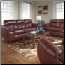 Ashley/Benchcraft Bastrop DuraBlend - Crimson Stationary Living Room  Set
