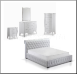 Chesterfield White 5 PC Bedroom Set  by J&M Furniture USA